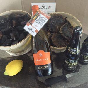 Skaldyrs hyggemenu pakke østers og muslinger